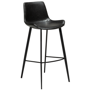 Hype Bar Stool Vintage Black Artificial Leather