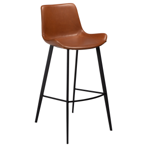 Hype Bar Stool Vintage Light Brown Artificial Leather