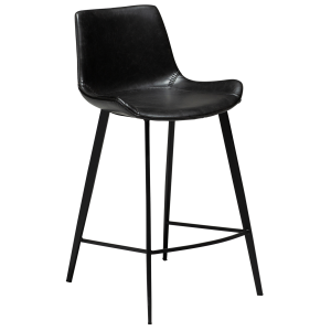 Hype Counter Stool Vintage Black Artificial Leather