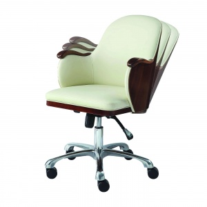 Stirling Office Chair walnut in motion