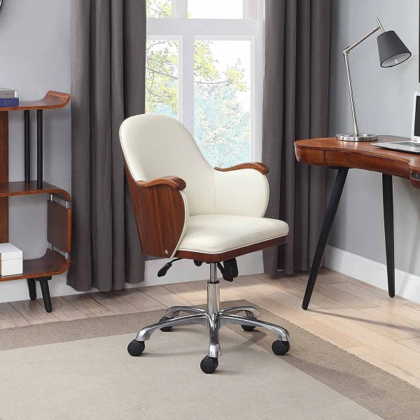 Stirling Office Chair walnut with desk