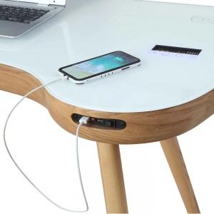 Stirling Smart Desk in Oak detail