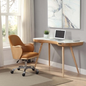 Stirling Smart Desk in Oak with Stirling Chair