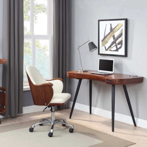 Stirling Smart Desk in Walnut with Stirling Chair 2