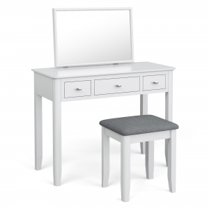 Capri White Dressing Table Set