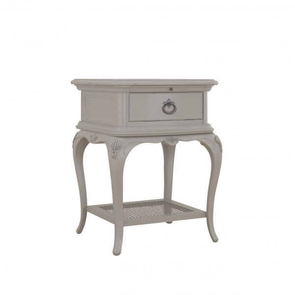 Avignon Grey 1 Drawer Bedside
