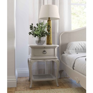 Avignon Grey 1 Drawer Bedside Chest