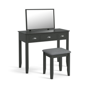 Capri Charcoal Dressing Table Set
