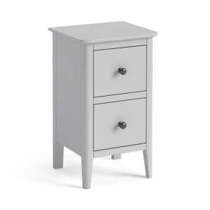 Capri Soft Grey 2 Drawer Narrow Bedside Chest