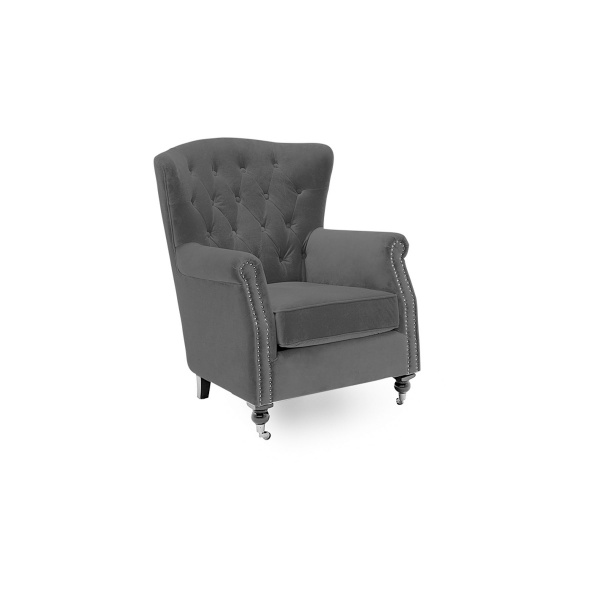 Deverell Wingback Chair in Grey