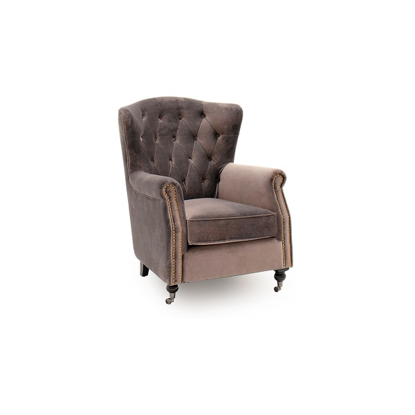 Deverell Wingback Chair in Mink