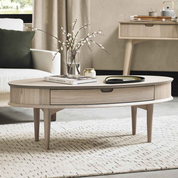 Mortensen Coffee Table with Drawer