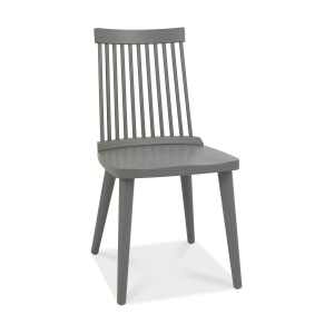 Mortensen Spindle Back Dining Chair Dark Grey 01
