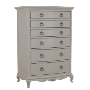 Avignon Grey 6 Drawer Chest angled