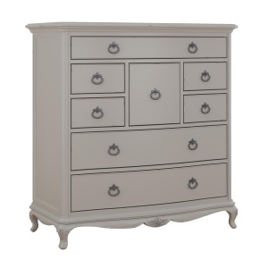 Avignon Grey 8 Drawer Chest angled