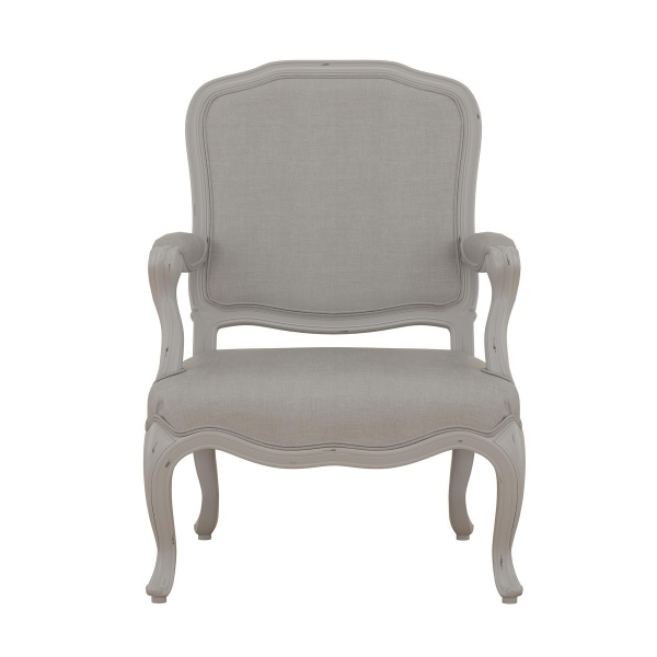 Avignon Grey Bedroom Armchair front