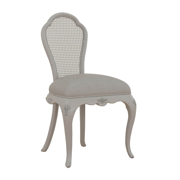 Avignon Grey Bedroom Chair angled