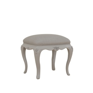 Avignon Grey Bedroom Stool angled
