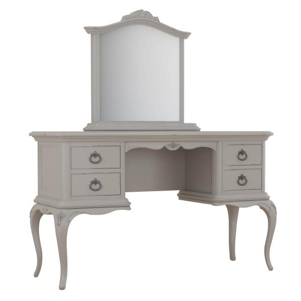 Avignon Grey Dressing Table & Gallery Mirror