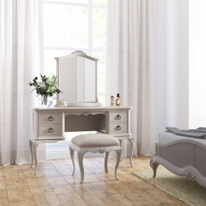 Avignon Grey Dressing Table, Gallery Mirror & Stool