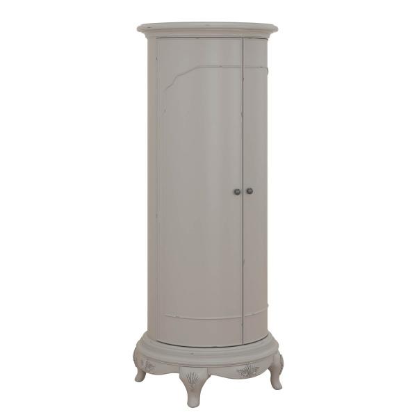Avignon Grey Storage Cabinet angled