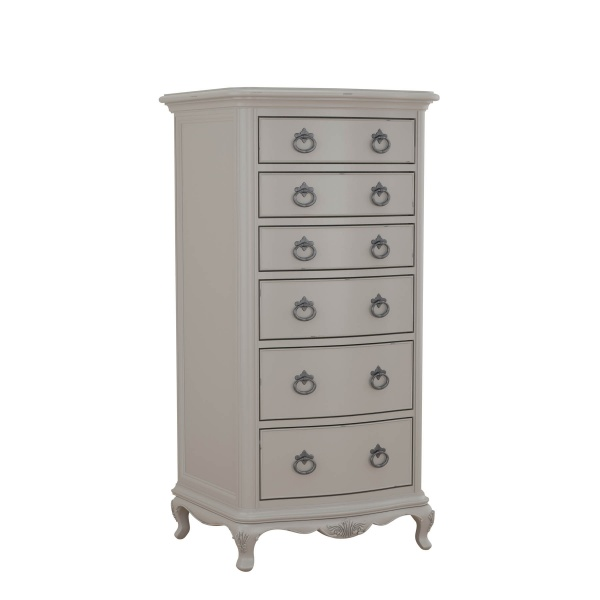 Avignon Grey Tall Boy Chest angled