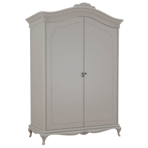 Avignon Grey Wide Fitted Wardrobe angled