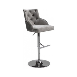 Kirsty Bar Stool in Pewter