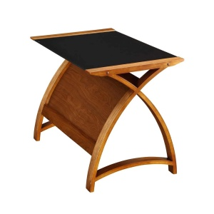 Poise Laptop Desk in walnut