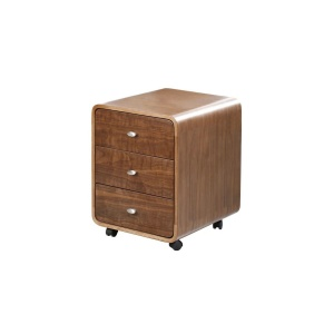 Poise Mobile Chest in Walnut