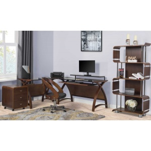 Poise Office collection in walnut 2