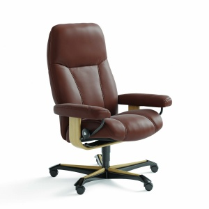 Stressless Consul Office Chair in brown