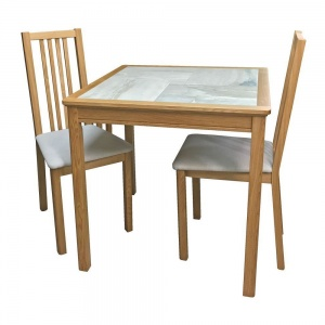 Anbercraft Beaumont BMT12 Dining Table with Allegro Chairs