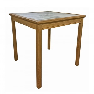 Anbercraft Beaumont BMT12 Square Dining Table with Tile Top