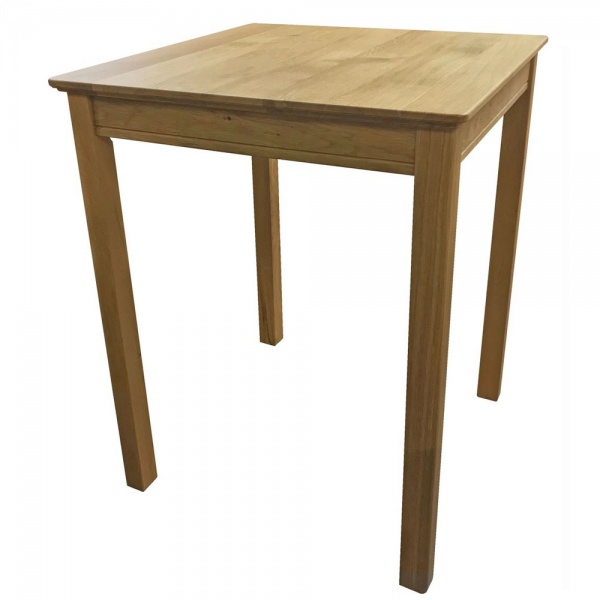 Anbercraft Beaumont BMT12 Square Dining Table with Wood Top