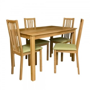 Anbercraft Beaumont BMT13 Dining Table with Allegro Chairs