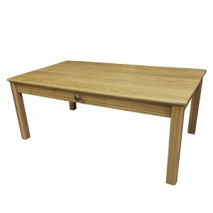 Anbercraft Beaumont Coffee Table with Drawer & Wood Top