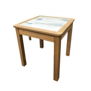 Anbercraft Beaumont Lamp Table with Tile Top