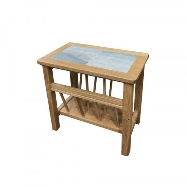 Anbercraft Beaumont Magazine Table with Brecon Tile Top
