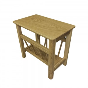 Anbercraft Beaumont Magazine Table with Wood Top