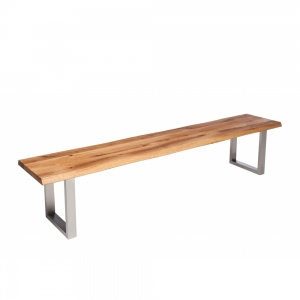 Minnesota Oak Bench U-Shaped Leg