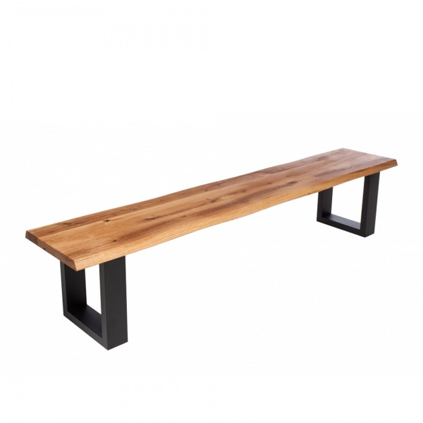 Minnesota Oak Bench U-Shaped Leg anthracite