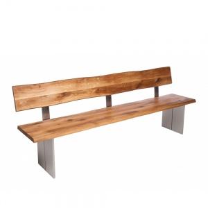 Minnesota Oak Bench with Back Full Leg