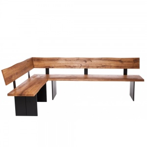 Minnesota Oak Corner Bench Full Leg