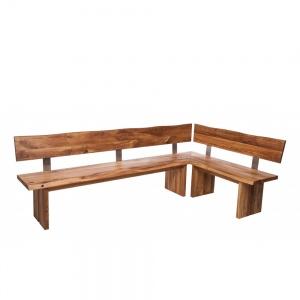 Minnesota Oak Corner Bench Full Leg wood