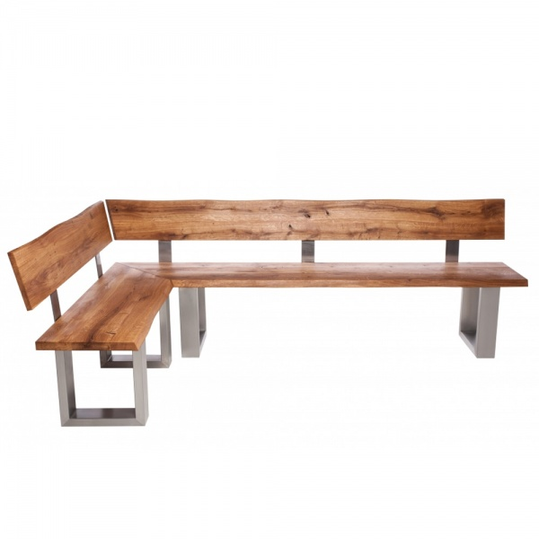 Minnesota Oak Corner Bench U-Shaped Leg