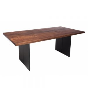 Minnesota Table Full Leg D Walnut & Anthracite Frame
