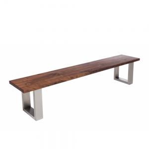 Minnesota Walnut Bench U-Shaped Leg