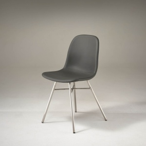 Flavia Dining Chair with Stainless Steel Legs