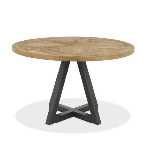 Ravi Rustic Oak Circular Dining Table